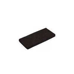 Pad prostokątny czarny  25x12 cm