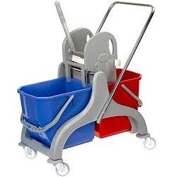 Wózek sprzątający plastikowy z rączką 2x25 l SCP50